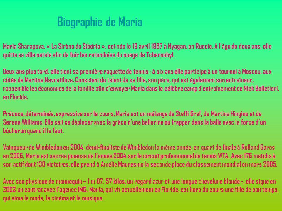 Biographie de Maria