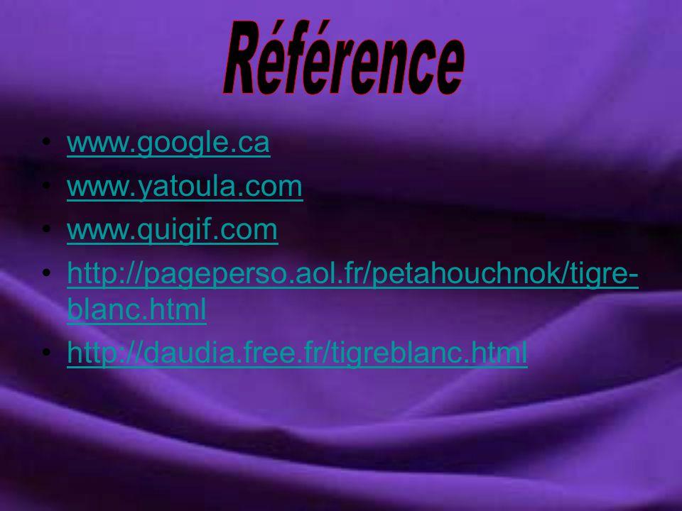 Référence www.google.ca www.yatoula.com www.quigif.com