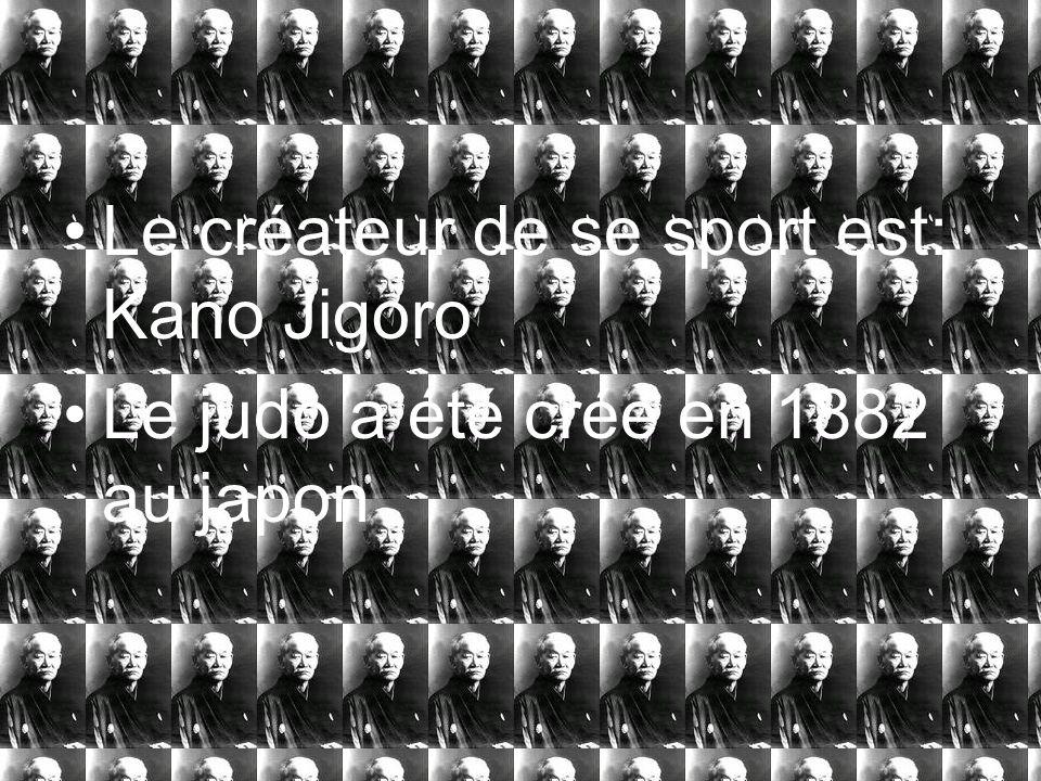 Le créateur de se sport est: Kano Jigoro