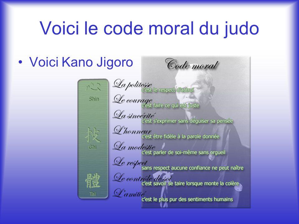 Voici le code moral du judo
