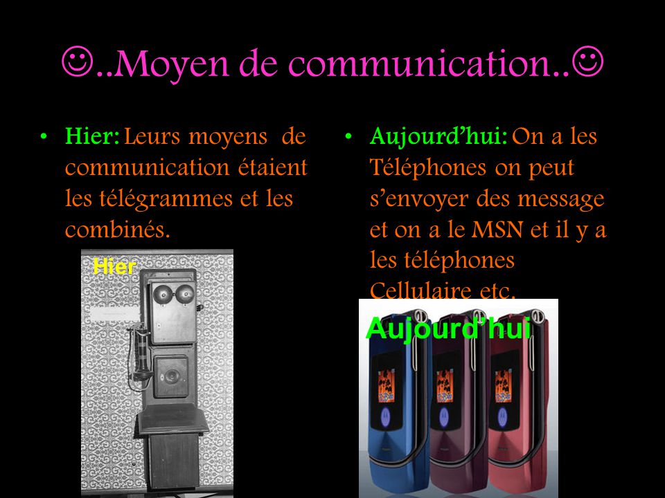 ..Moyen de communication..