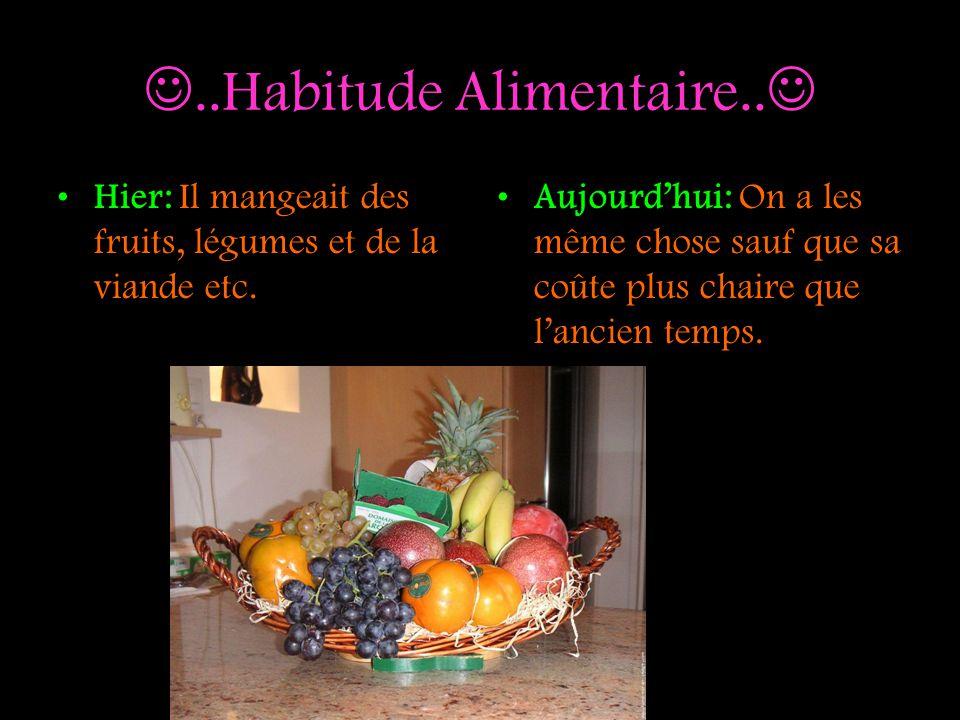 ..Habitude Alimentaire..
