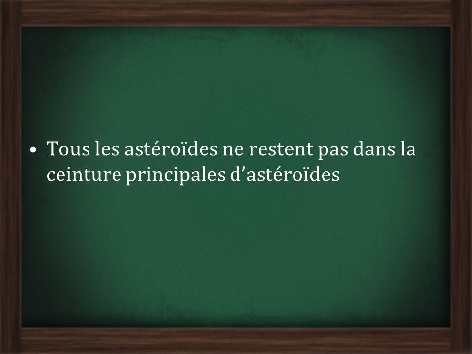 Tous les astéroïdes ne restent pas dans la ceinture principales d'astéroïdes