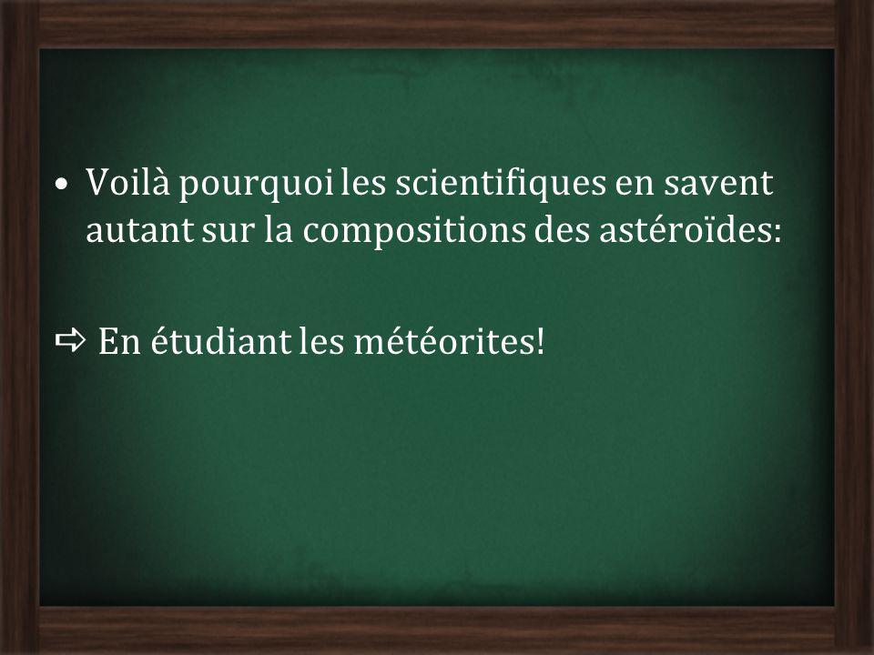 Voilà pourquoi les scientifiques en savent autant sur la compositions des astéroïdes: