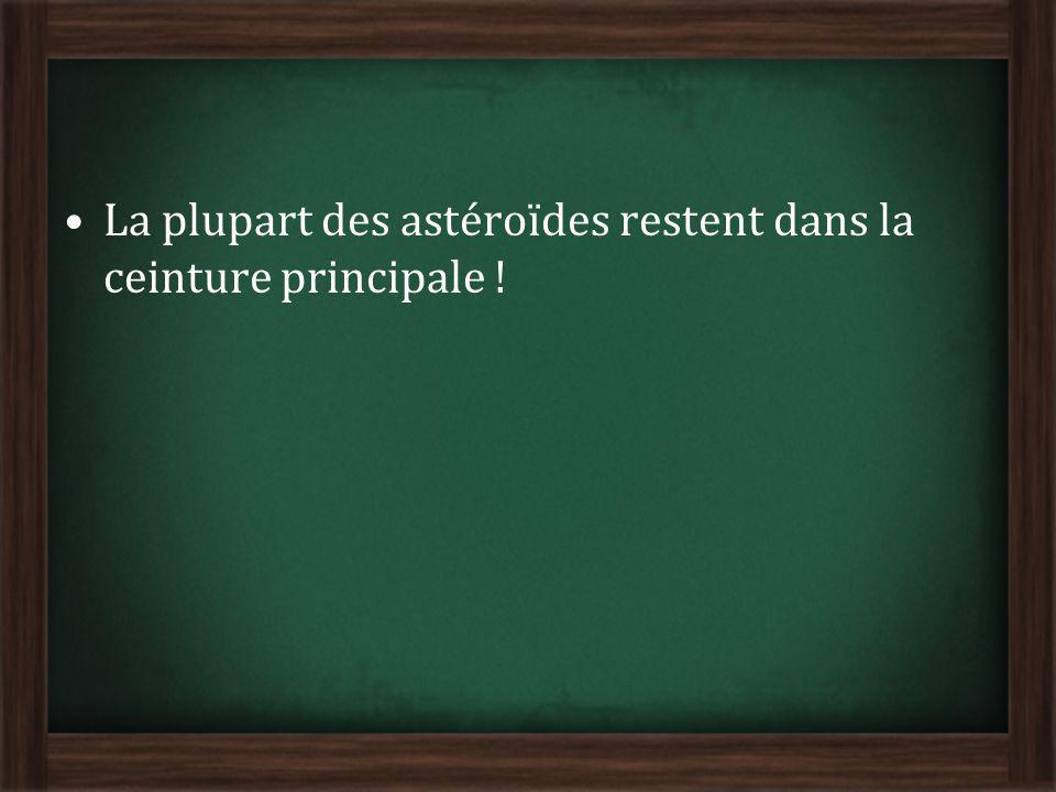 La plupart des astéroïdes restent dans la ceinture principale !