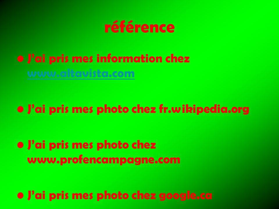référence J'ai pris mes information chez www.altavista.com