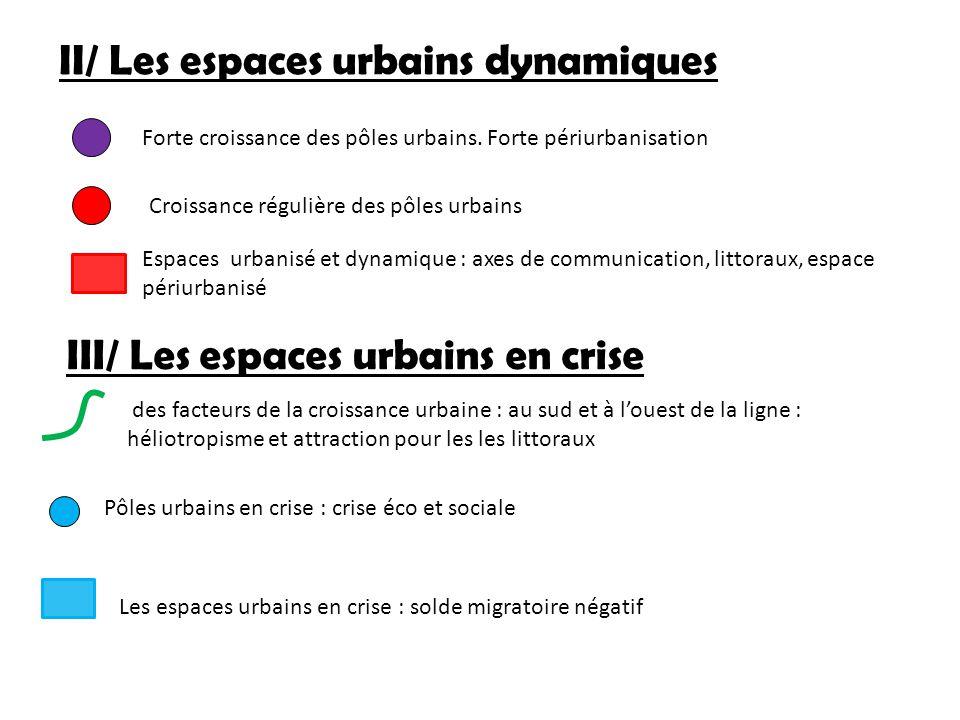 II/ Les espaces urbains dynamiques