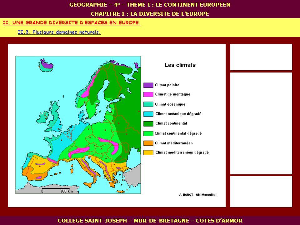 II. UNE GRANDE DIVERSITE D'ESPACES EN EUROPE.
