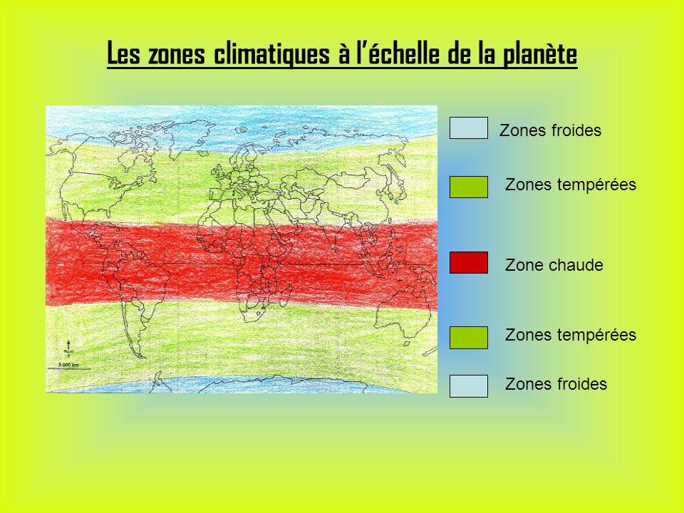 Les zones climatiques à l'échelle de la planète