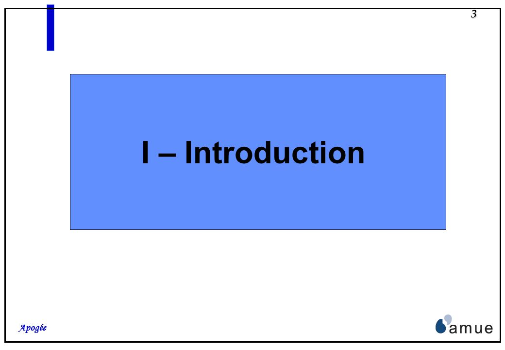 I – Introduction