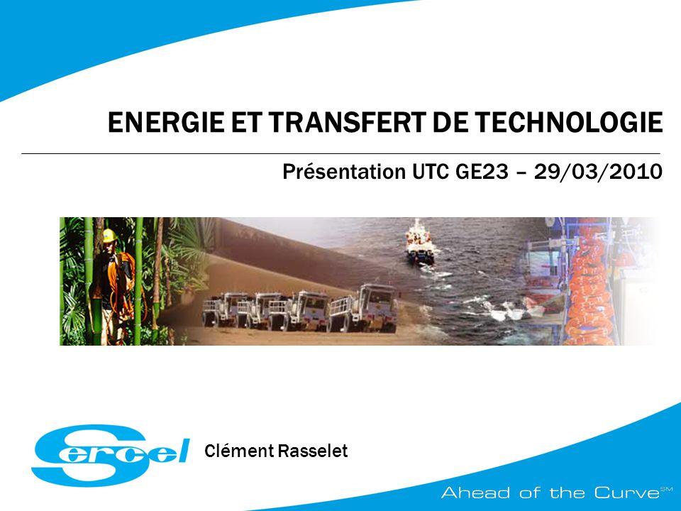 ENERGIE ET TRANSFERT DE TECHNOLOGIE