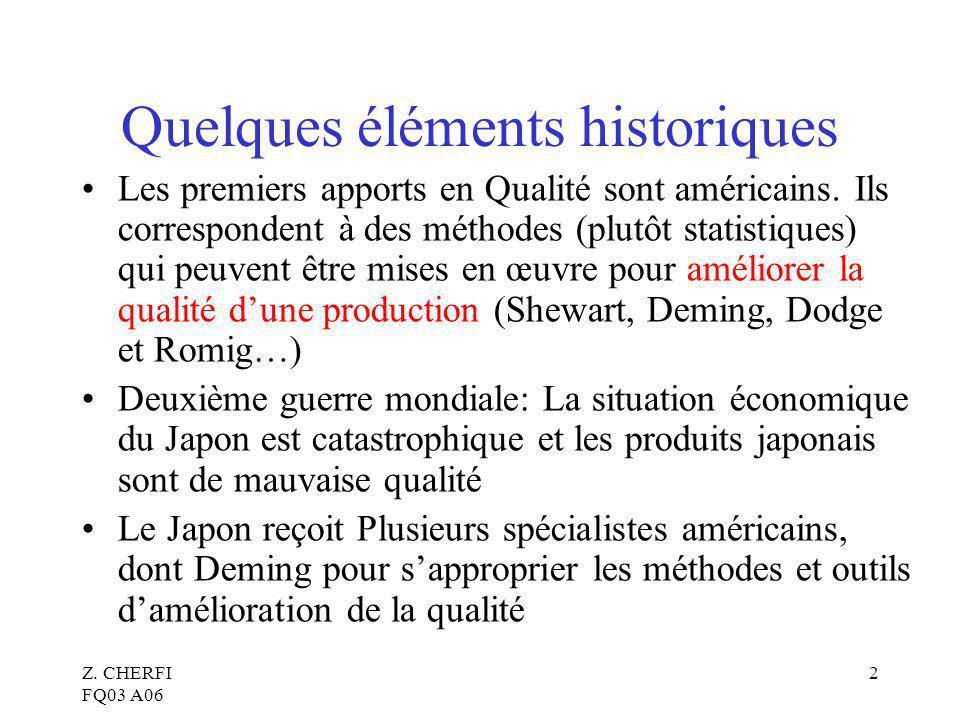 Quelques éléments historiques