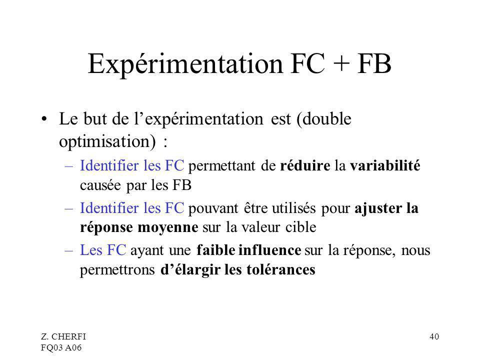 Expérimentation FC + FB