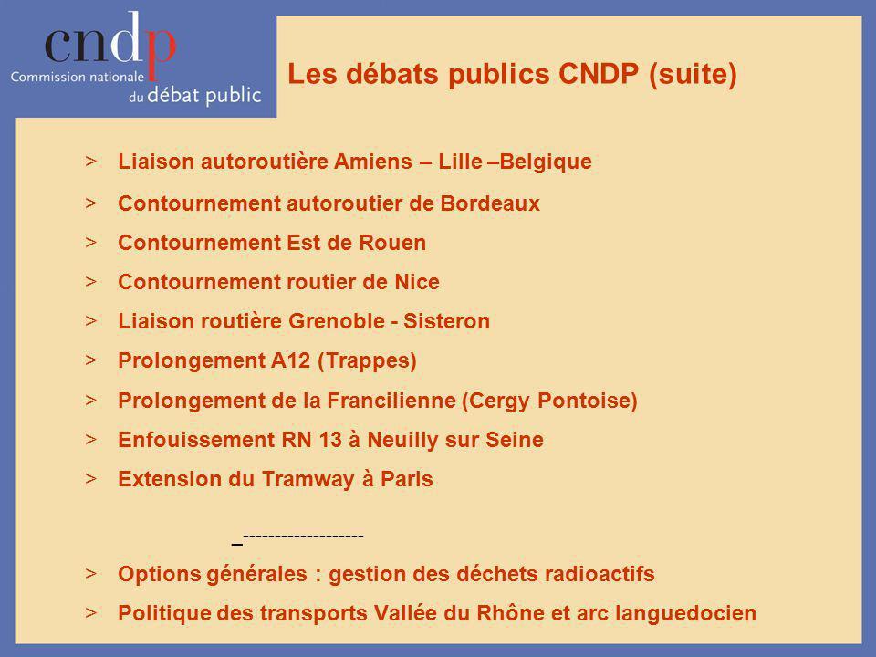 Les débats publics CNDP (suite)
