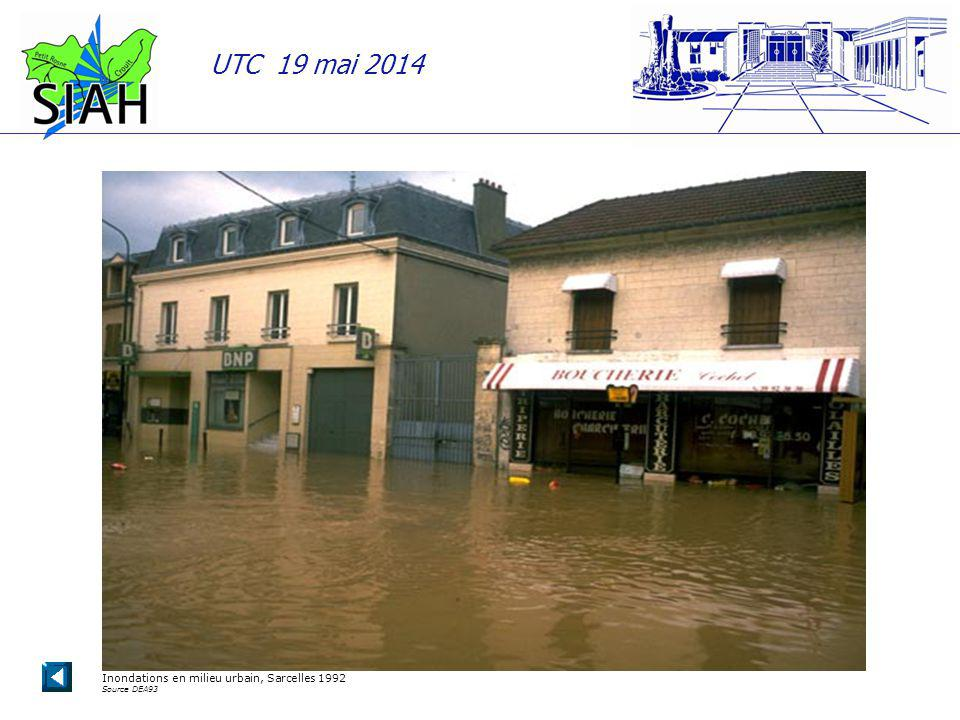 Inondations en milieu urbain, Sarcelles 1992