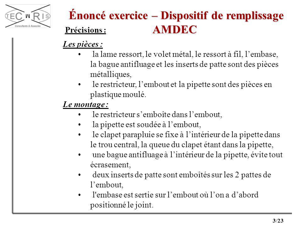Énoncé exercice – Dispositif de remplissage