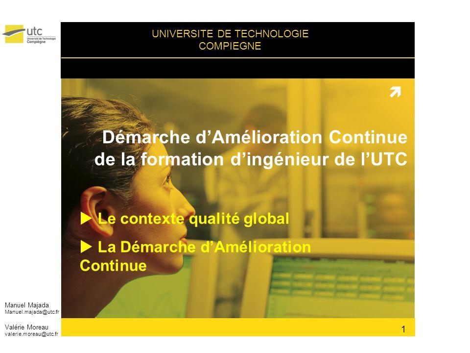 Démarche d'Amélioration Continue de la formation d'ingénieur de l'UTC