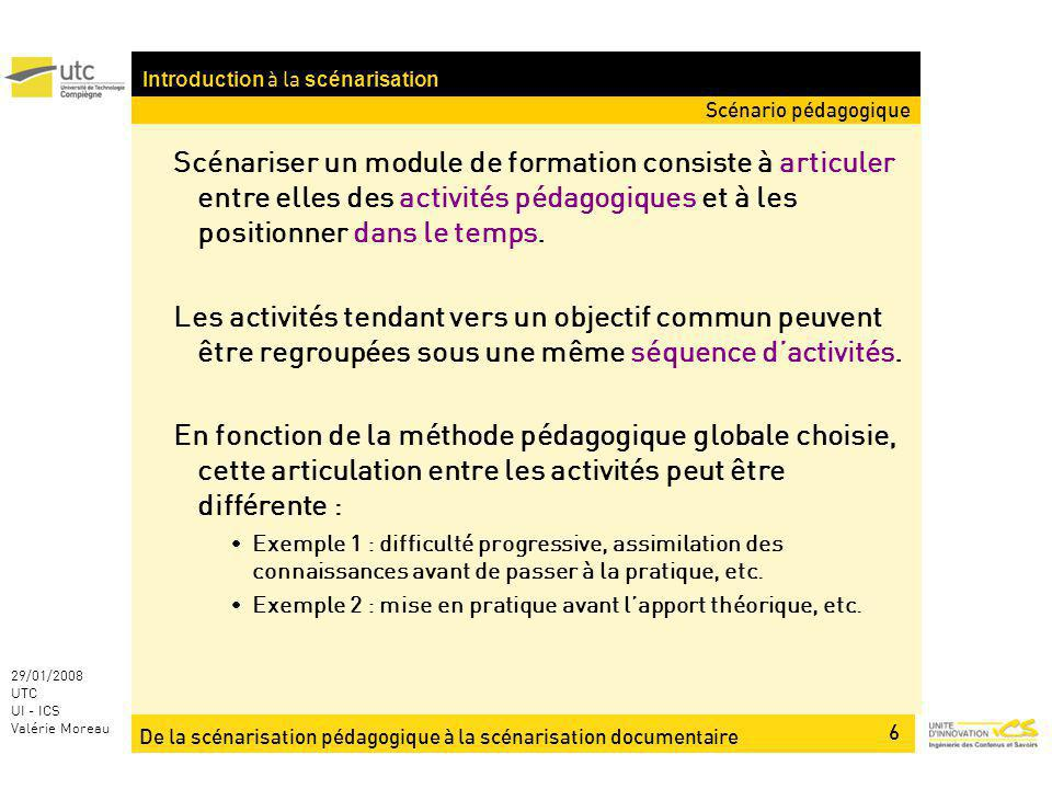 Introduction à la scénarisation