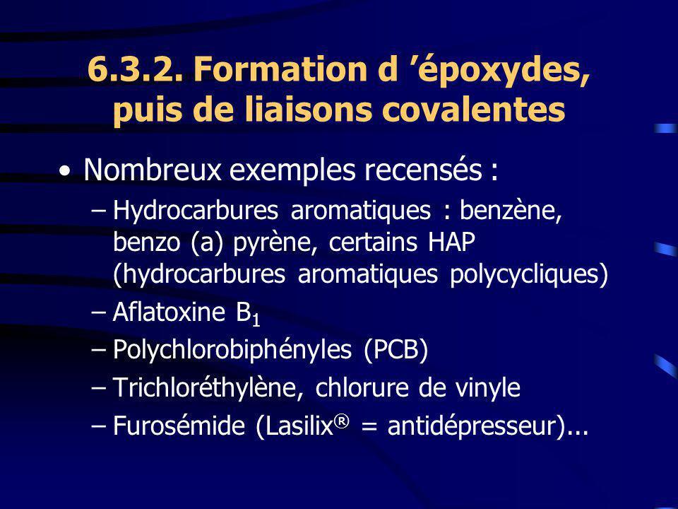 6.3.2. Formation d 'époxydes, puis de liaisons covalentes