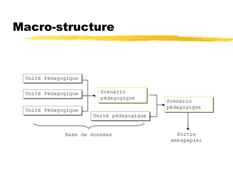 Macro-structure Unité Pédagogique Scénario pédagogique