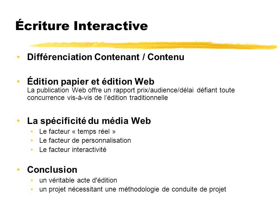Écriture Interactive Différenciation Contenant / Contenu