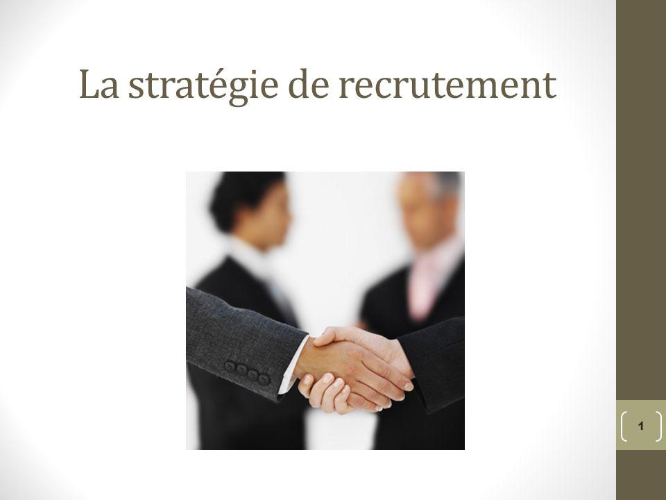 La stratégie de recrutement