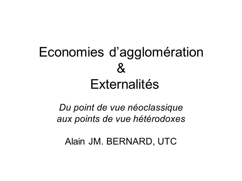 Economies d'agglomération & Externalités