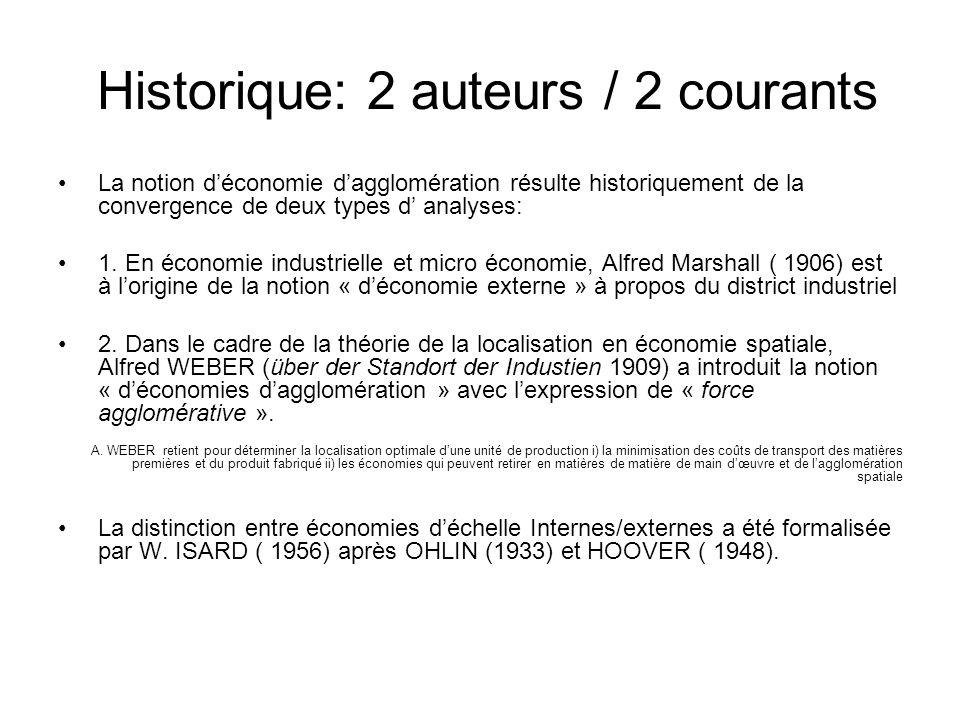 Historique: 2 auteurs / 2 courants