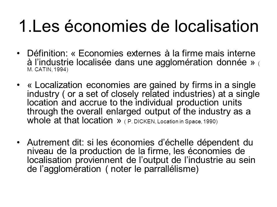 1.Les économies de localisation
