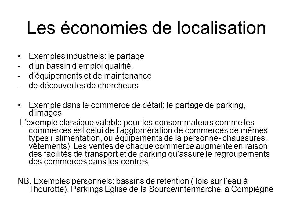 Les économies de localisation