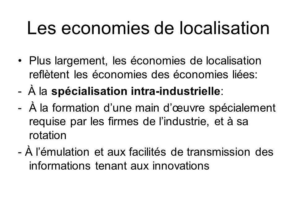 Les economies de localisation