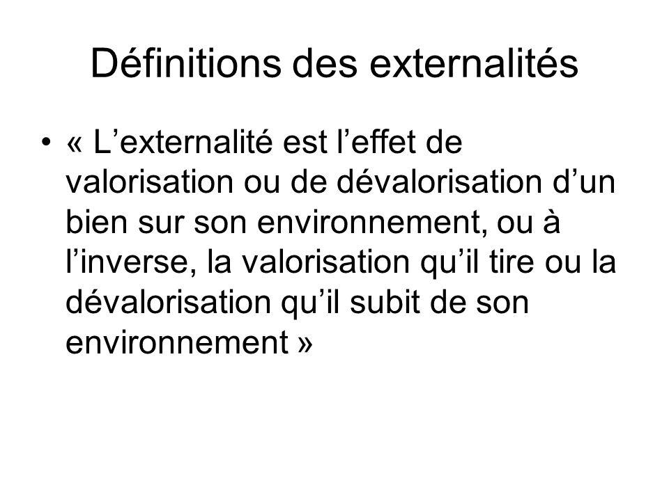 Définitions des externalités