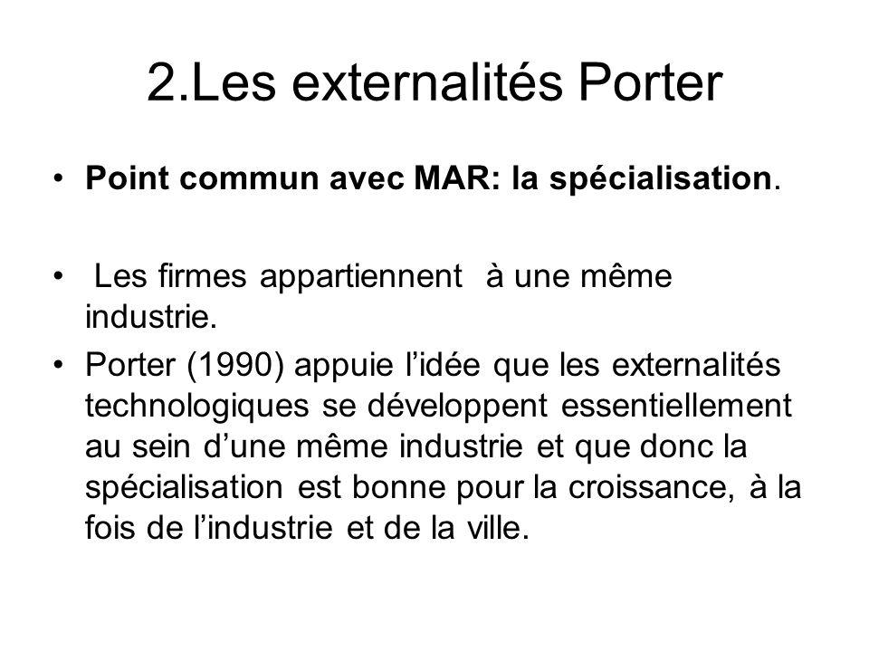 2.Les externalités Porter