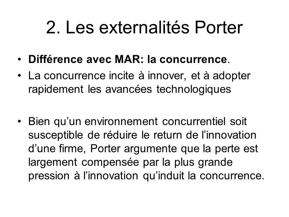 2. Les externalités Porter