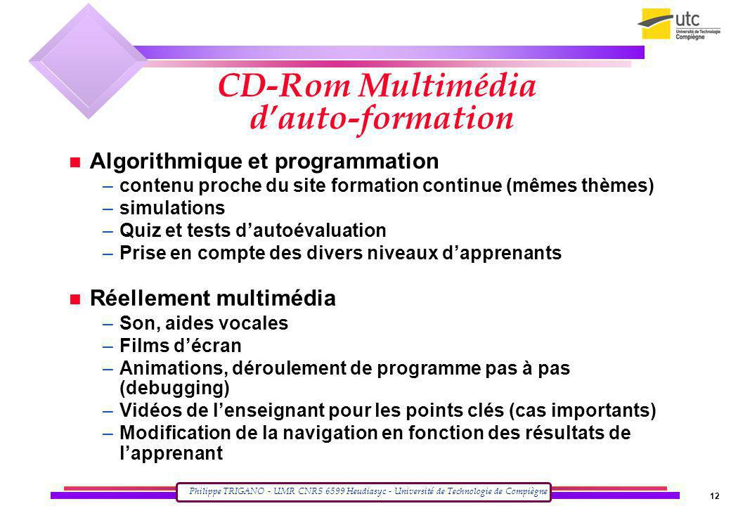CD-Rom Multimédia d'auto-formation