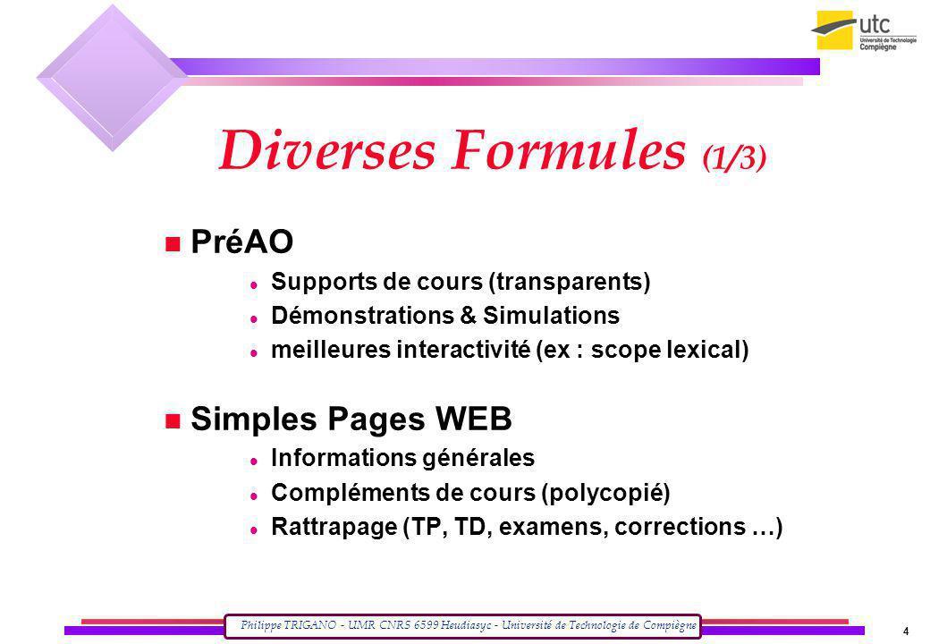 Diverses Formules (1/3) PréAO Simples Pages WEB
