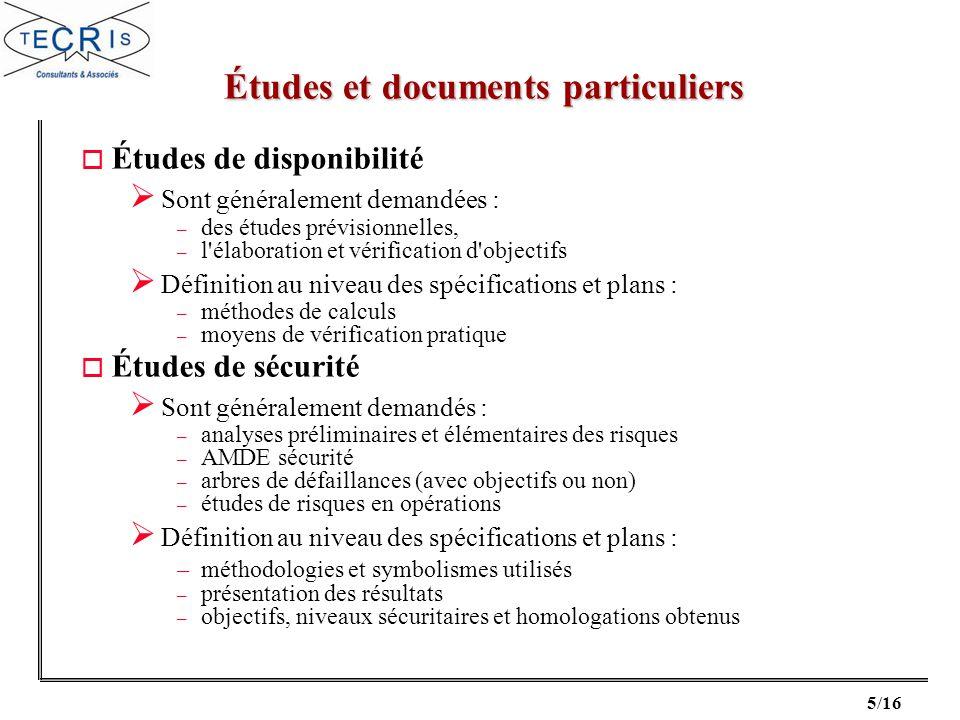 Études et documents particuliers