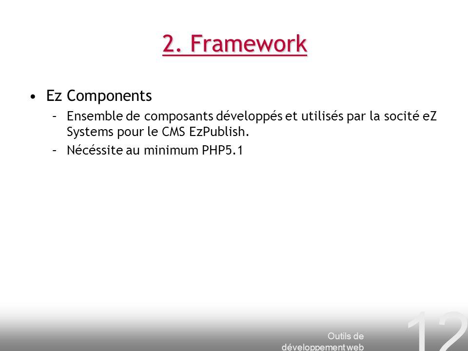 2. Framework Ez Components