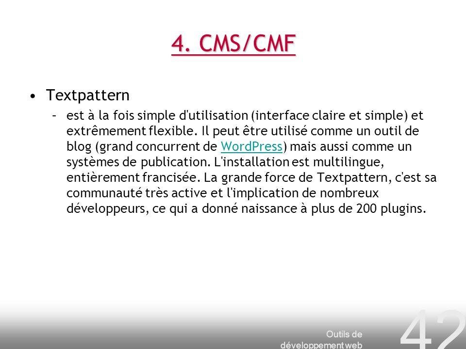 4. CMS/CMF Textpattern.