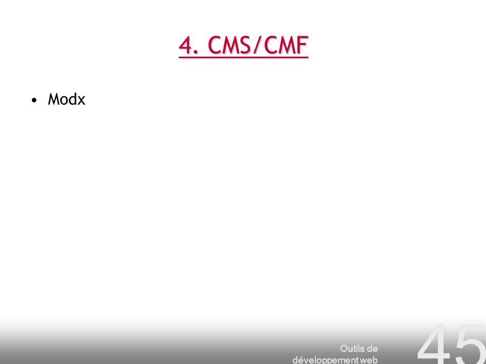 4. CMS/CMF Modx Outils de développement web
