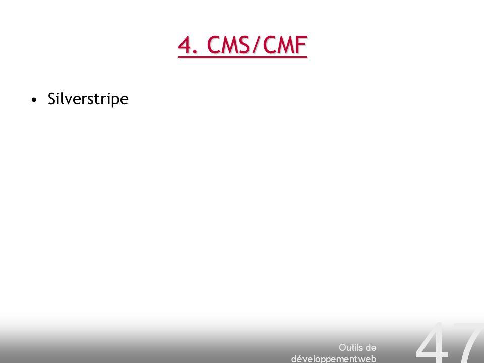 4. CMS/CMF Silverstripe Outils de développement web
