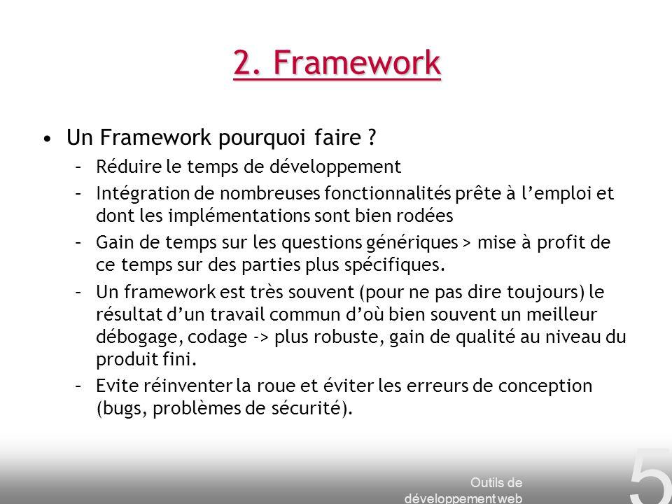 2. Framework Un Framework pourquoi faire