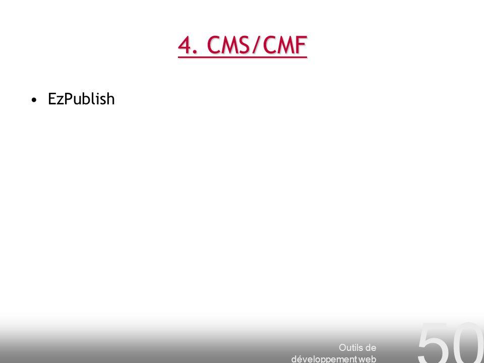 4. CMS/CMF EzPublish Outils de développement web