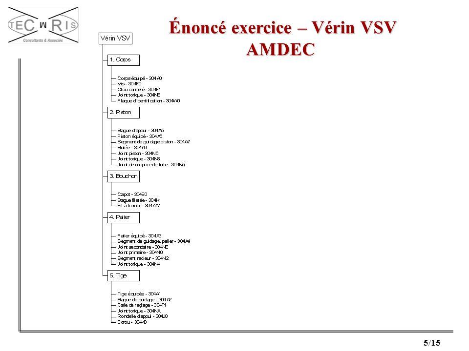 Énoncé exercice – Vérin VSV