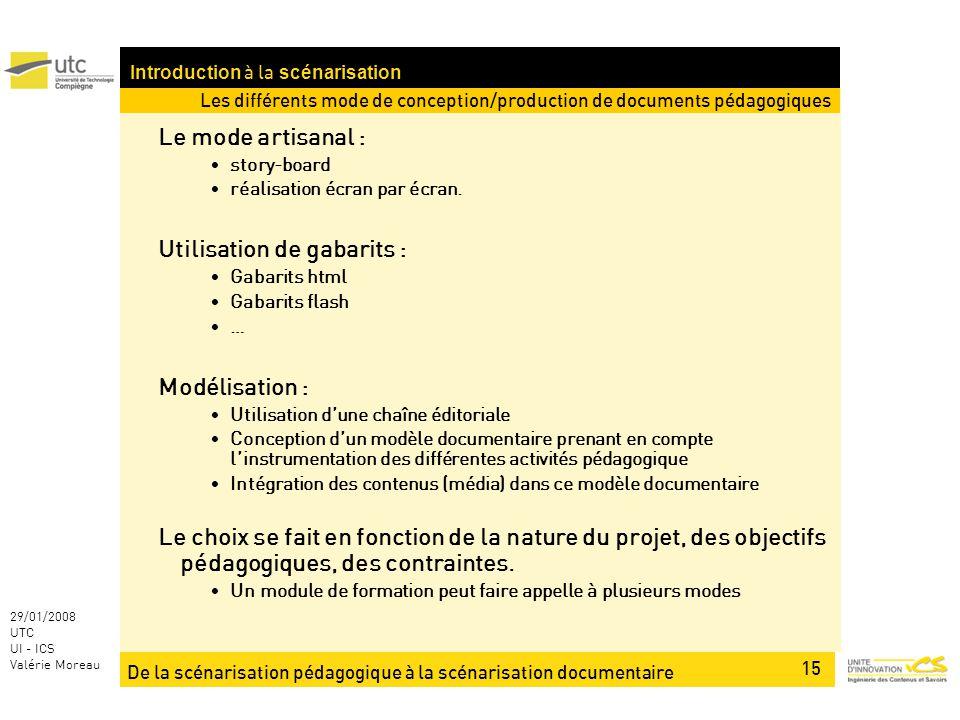 Introduction à la scénarisation