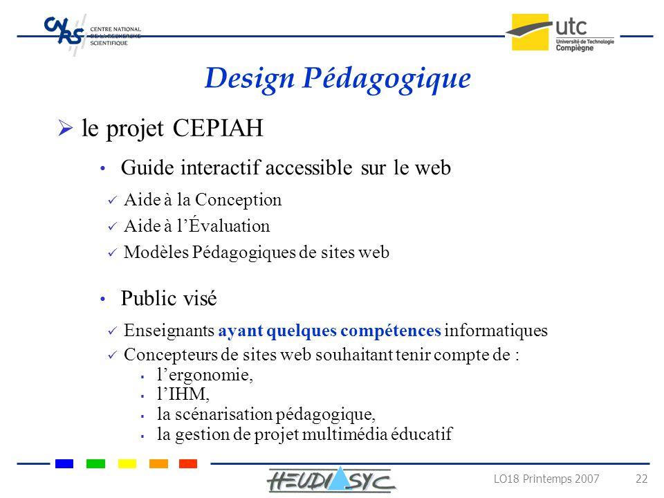 Design Pédagogique le projet CEPIAH
