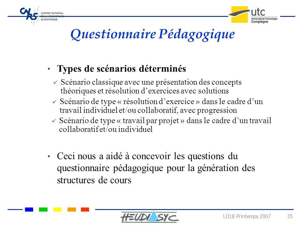 Questionnaire Pédagogique