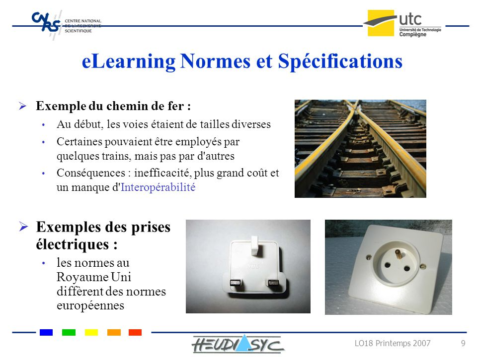 eLearning Normes et Spécifications