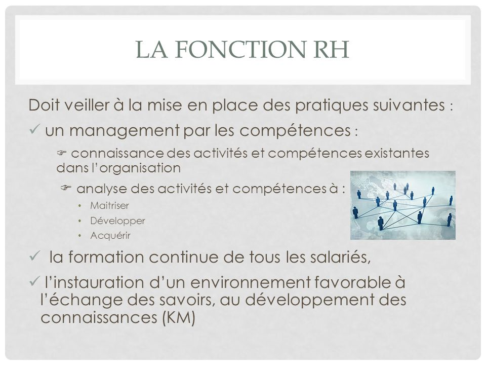 le management des comp u00e9tences