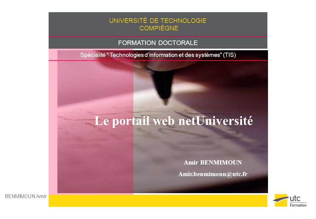 Le portail web netUniversité